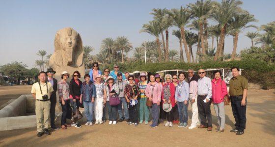 埃及最早的首都孟非斯博物館內