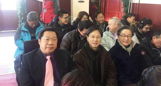 總監 丘放河 牧師聯同香港區董事及紐約同工在北京基督教缸瓦市堂聚會